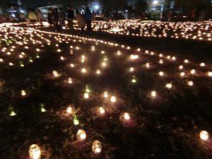 キャンドルナイト、高石市で開催。たくさんの方に来ていただきました。